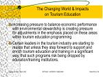 the changing world impacts on tourism education33