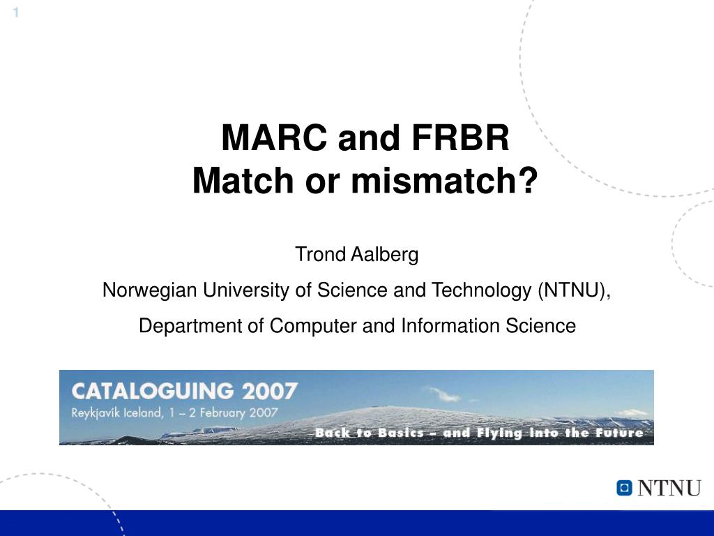 marc and frbr match or mismatch l.