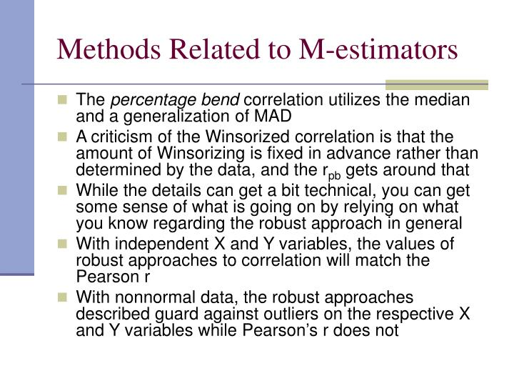 Methods Related to M-estimators