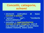 concetti categorie schemi