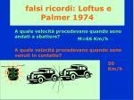 falsi ricordi loftus e palmer 1974