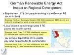 german renewable energy act impact on regional development
