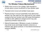 tin whisker failure mechanisms