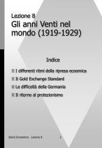 lezione 8 gli anni venti nel mondo 1919 1929