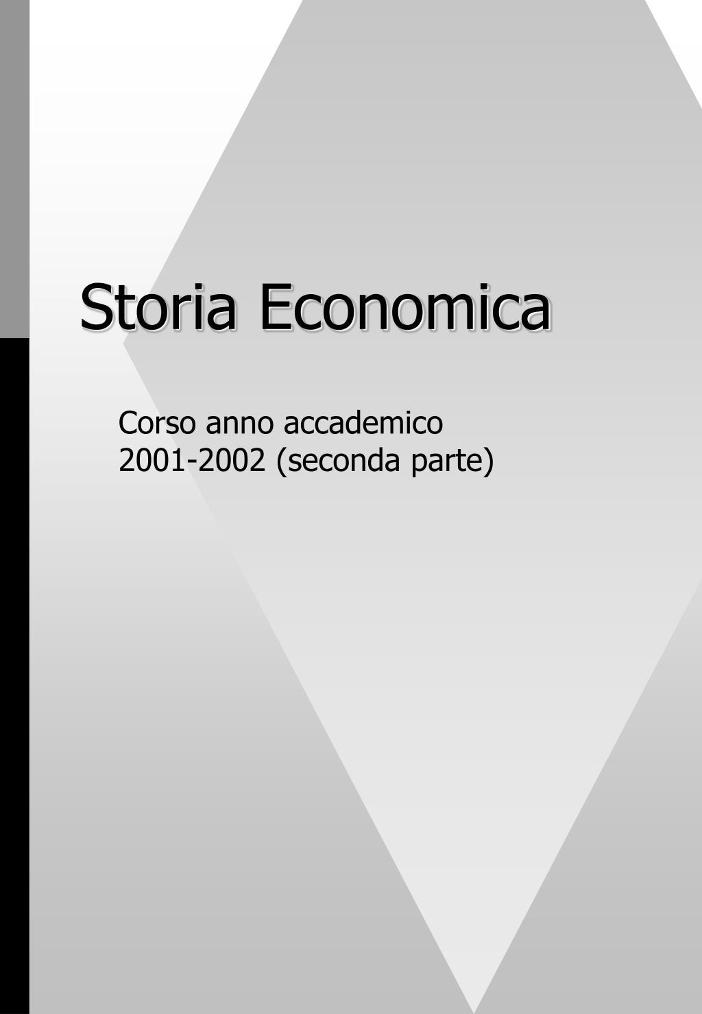 storia economica l.