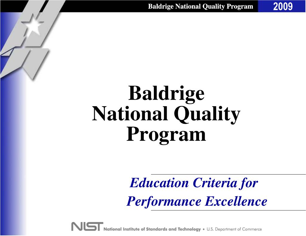 baldrige national quality program l.
