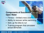 components of successful open water