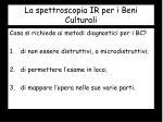 la spettroscopia ir per i beni culturali