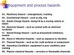 equipment and process hazards