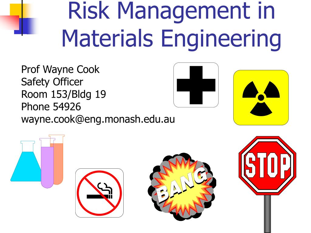risk management in materials engineering l.
