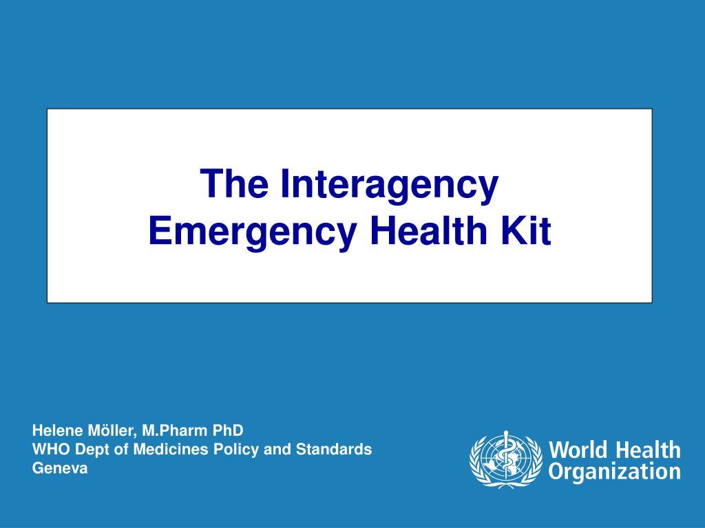 the interagency emergency health kit l.