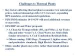 challenges to thermal plants
