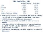 pjm supply mix 2010