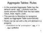 aggregate tables rules