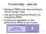 functionality data tier