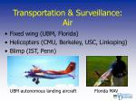 transportation surveillance air