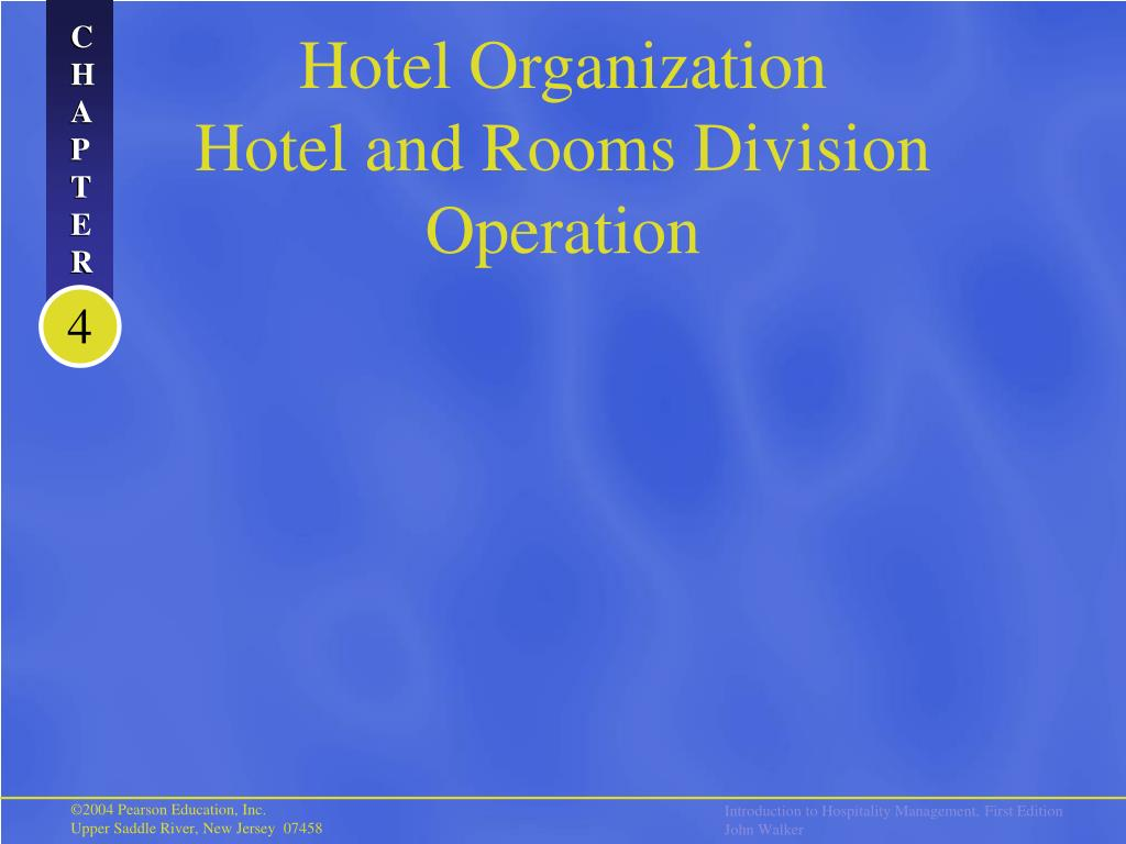 hotel organization hotel and rooms division operation l.