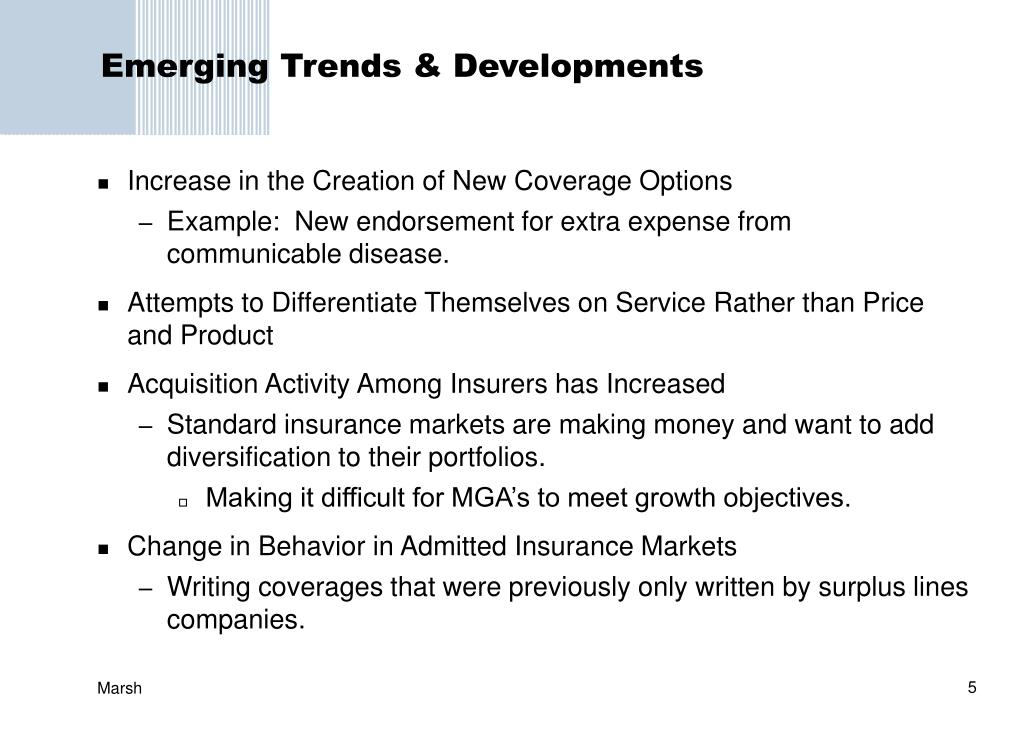 Emerging Trends & Developments