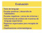 evaluaci n