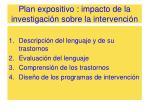 plan expositivo impacto de la investigaci n sobre la intervenci n