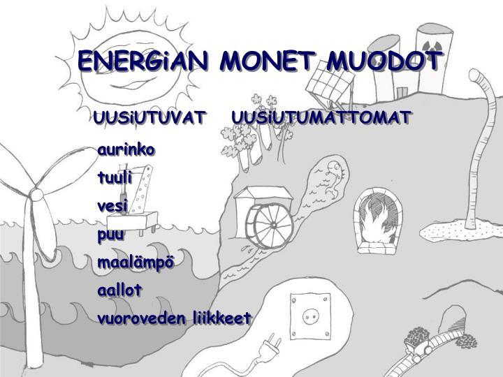 ENERGiAN MONET MUODOT