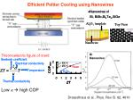 efficient peltier cooling using nanowires