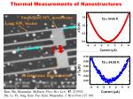 thermal measurements of nanostructures