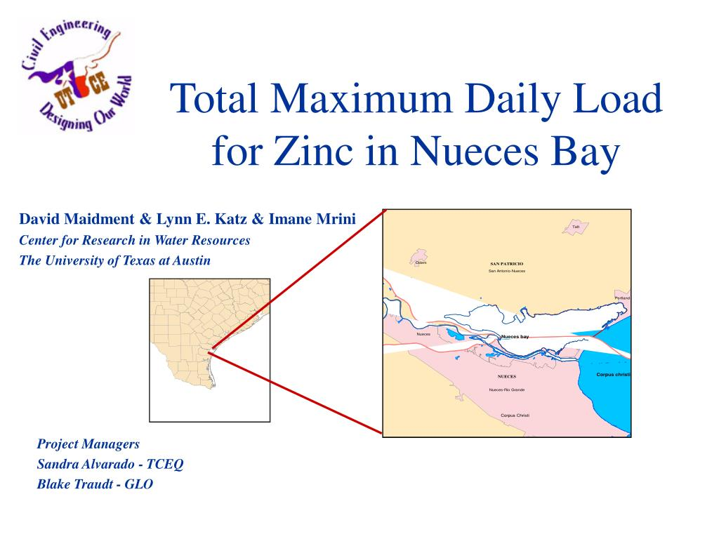total maximum daily load for zinc in nueces bay l.