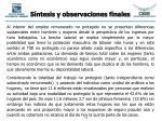 s ntesis y observaciones finales32
