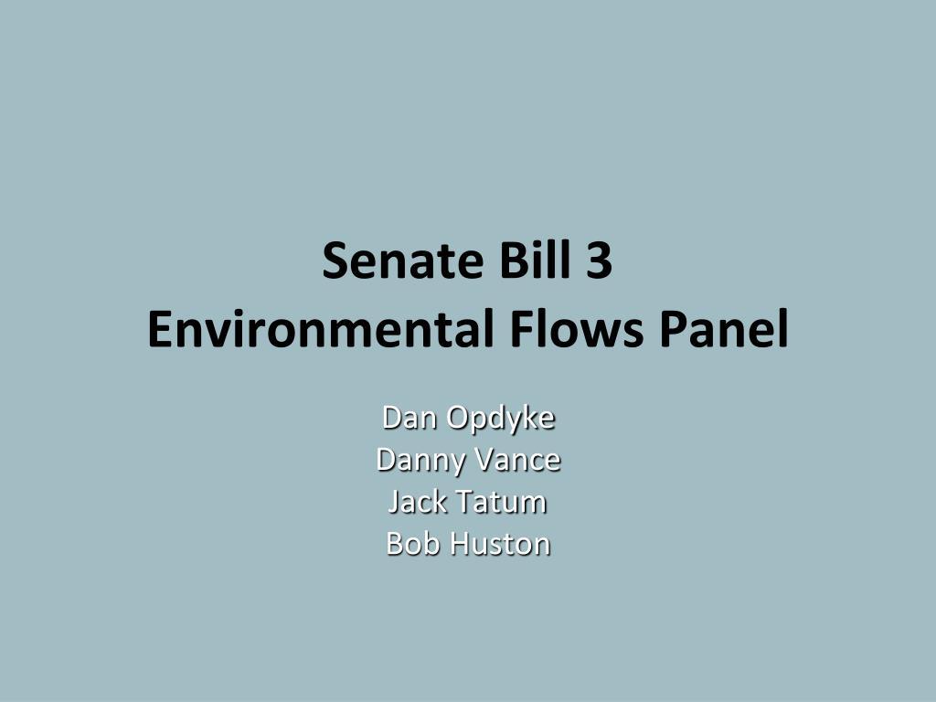 senate bill 3 environmental flows panel l.