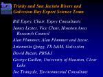 trinity and san jacinto rivers and galveston bay expert science team