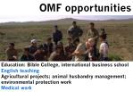 omf opportunities