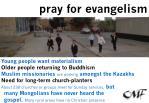pray for evangelism