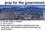 pray for the government