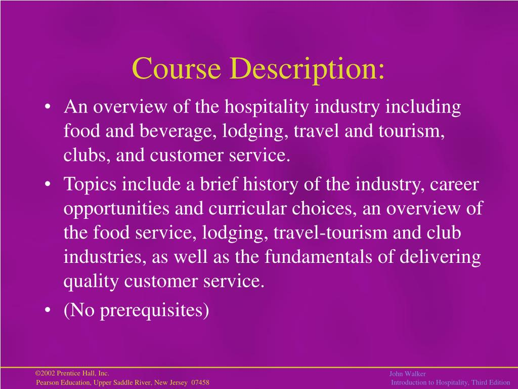 Course Description: