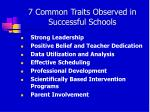 7 common traits observed in successful schools