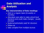 data utilization and analysis