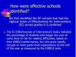 how were effective schools identified