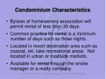 condominium characteristics