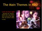 the main themes in r j