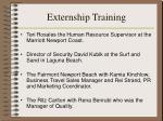 externship training