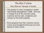 the ritz carlton rena benrubi manager of quality