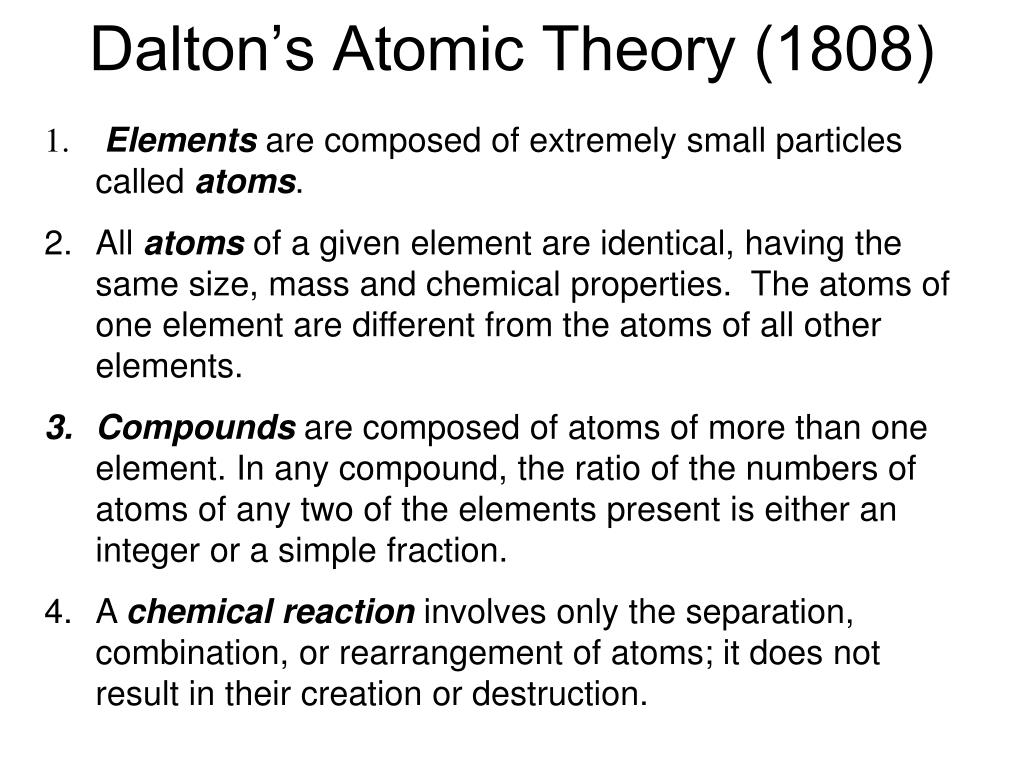 dalton s atomic theory 1808 l.