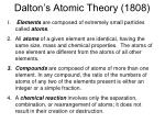 dalton s atomic theory 1808