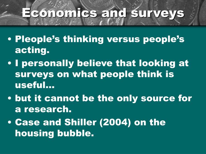 Economics and surveys