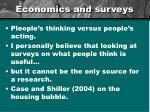 economics and surveys