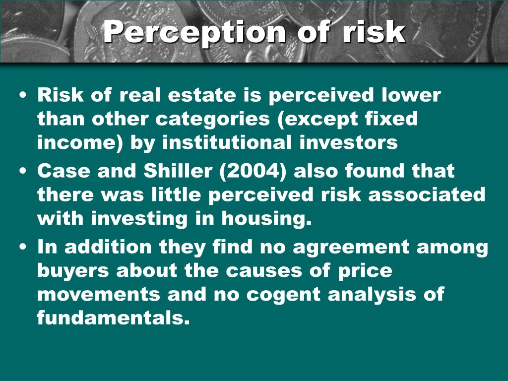 Perception of risk