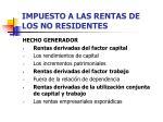 impuesto a las rentas de los no residentes