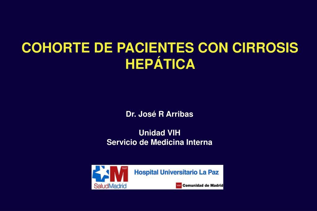 cohorte de pacientes con cirrosis hep tica l.