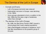 the demise of the left in europe